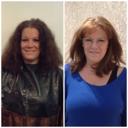 Before and After Hair Color Correction